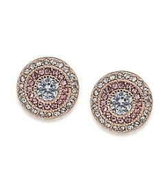 Lauren Ralph Lauren Spring '17 Bridal Rose Gold and Crystal Vintage Clip-On Stud Earrings