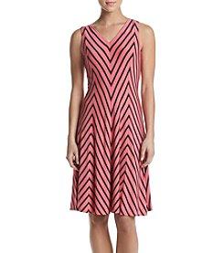 Chelsea & Theodore® Mitered Stripe Dress