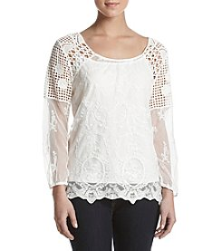 Adiva Crochet Trim Lace Top