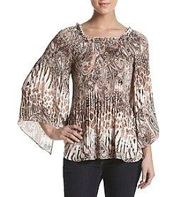 Melissa Paige Crystal Pleat Release Top