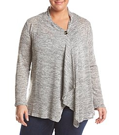 AGB® Plus Size Cozy Cardigan
