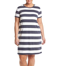 MICHAEL Michael Kors® Plus Size Rugby Striped Dress