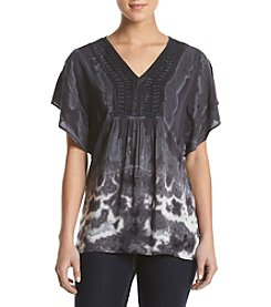 Oneworld® Tie Dye Knit Top