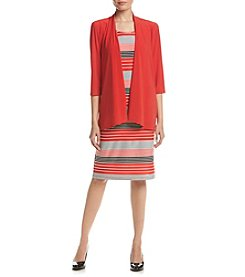 R&M Richards® Striped Jacket Dress