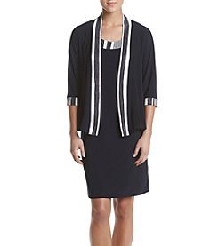 R&M Richards® Stripe Trimmed Jacket Dress