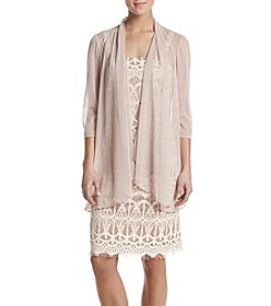 R&M Richards® Lace Dress with Sheer Jacket