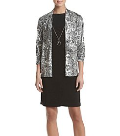 R&M Richards® Printed Jacket Necklace Dress