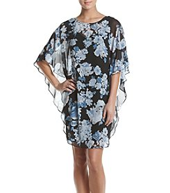 Connected® Floral Printed Flutter Dress