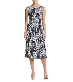 Connected® Floral Printed Midi Dress