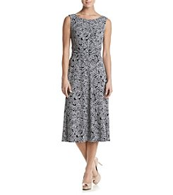 Connected® Printed Midi Dress