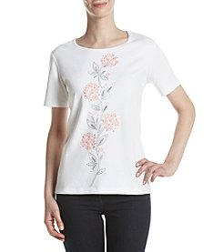 Alfred Dunner® Floral Applique Top