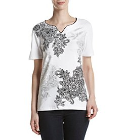 Alfred Dunner® Floral Printed Knit Top