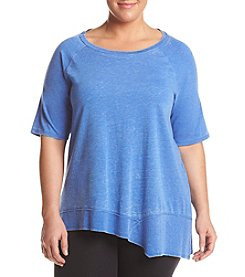 Calvin Klein Performance Plus Size Asymmetrical Hem Top