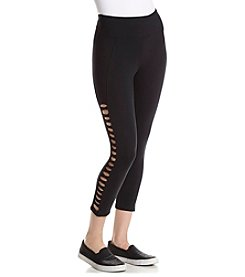 Betsey Johnson® Performance Mini X-Banded Crop Leggings
