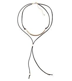 Relativity® Choker Long Bolo Black Tassel