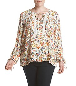 Jessica Simpson Plus Size Floral Peasant Top