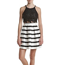 A. Byer Lace Two-Piece Dress