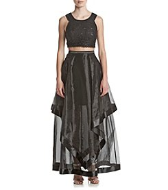 A. Byer Sequin Cascade Dress
