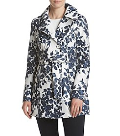 Jessica Simpson Floral Trench Coat