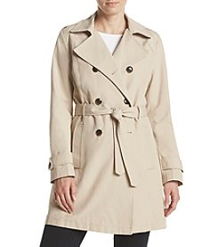 Relativity® Belted Trench Coat