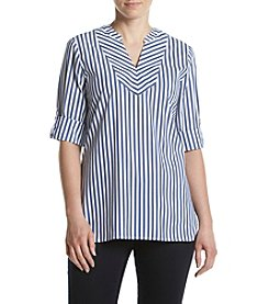 Ivanka Trump® Striped Rolled Sleeve Top