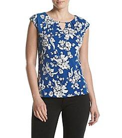 Ivanka Trump® Floral Matte Jersey Top