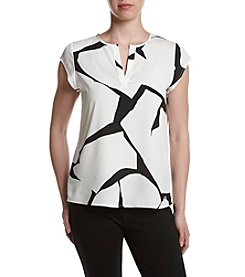 Ivanka Trump® Absract Print Top