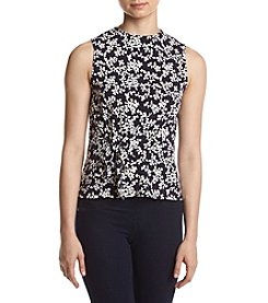 Ivanka Trump® Floral Waist Tie Blouse