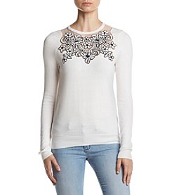 Ivanka Trump® Lace Trim Sweater
