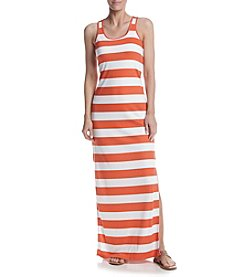 MICHAEL Michael Kors® Petites' Rugby Stripe Maxi Dress
