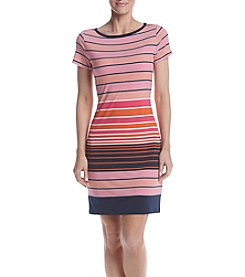 MICHAEL Michael Kors® Petites' Striped T-Shirt Dress