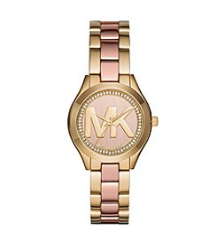 Michael Kors® Mini Slim Runway Two-Tone Three-Hand Watch