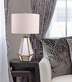 Catalina Lighting Maxine Facet Antique Mirror Table Lamp