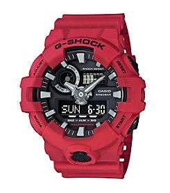 G-Shock® Men's Red Analog and Digital Resin Strap Watch
