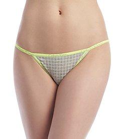Calvin Klein Simple Grid CK ID String Bikini