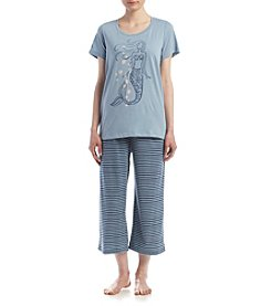 HUE® Mermaid Stripe Pajama Set