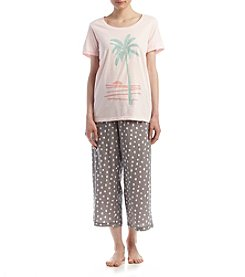 HUE® Tropical Dot Print Pajama Set