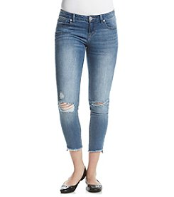 Crave Fame Angled Frey Hem Skinny Jeans