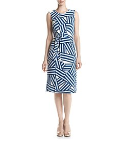 Ivanka Trump® Printed Jersey Sheath Dress