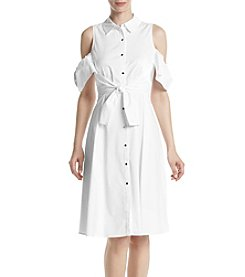 Ivanka Trump® Cold Shoulder Button Dress