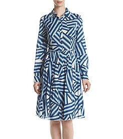 Ivanka Trump® Geo Print Shirt Dress