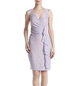 Ivanka Trump® Ruched Lace Dress