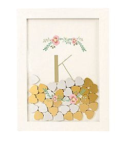 Cathy's Concepts Personalized Floral Heart Drop Guestbook