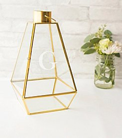 Cathy's Concepts Personalized Gold Metal Lantern