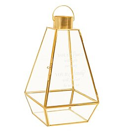 Cathy's Concepts Memorial Gold Metal Lantern