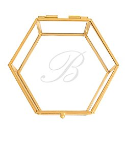 Cathy's Concepts Personalized Gold Glass Keepsake Box