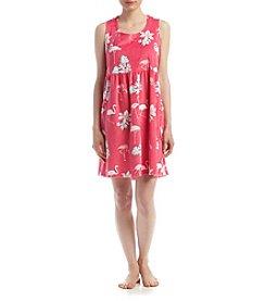 Jasmine Rose® Flamingo Pajama Dress