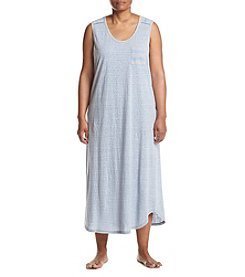 KN Karen Neuburger Plus Size Maxi Pajama Dress