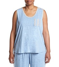 KN Karen Neuburger Plus Size Chambray Tank