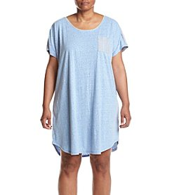 KN Karen Neuburger Plus Size Chambray Sleepshirt